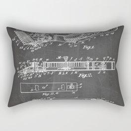 Barber Hair Clippers Patent - Barber Shop Art - Black Chalkboard Rectangular Pillow