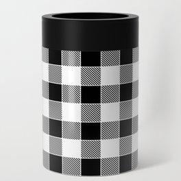Buffalo Check - black / white Can Cooler
