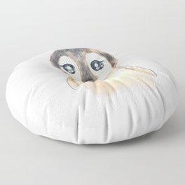 cute baby penguin watercolor  Floor Pillow