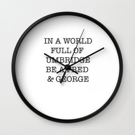 jk rowling Wall Clock