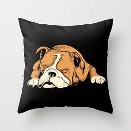 English Bulldog | Dog Lover Throw Pillow