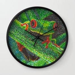 Eat What Bugs You Wall Clock