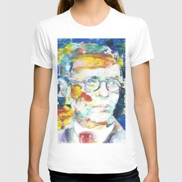 SARTRE watercolor and acrylic portrait.1 T-shirt
