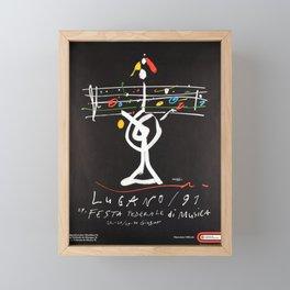 Advertisement festa federale di musica lugano Framed Mini Art Print