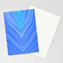 stripes wave pattern 3 c80 Stationery Cards