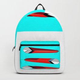 Horizontal Desert Feathers, Southwestern Design Backpack