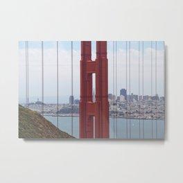 Looking Through Golden Gate Bridge Metal Print