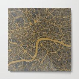 London map - Ocher Metal Print