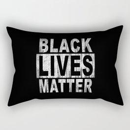 BLACK LIVES MATTER Wood Stain Concrete Block Arial Rectangular Pillow