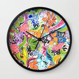 Crazy garden Wall Clock