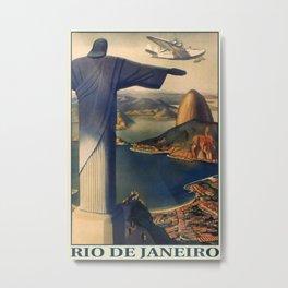 Rio de Janeiro Vintage Travel Poster Metal Print