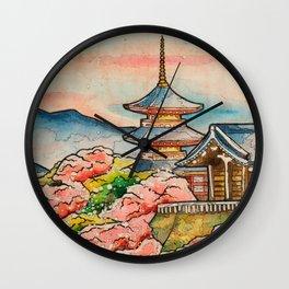 Kiyomizudera Wall Clock