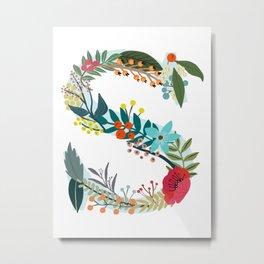 Monogram Letter S Metal Print