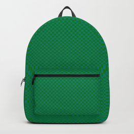 Dark green and sea green squares Backpack