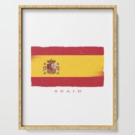 SPAIN GRUNGE FLAG Serving Tray
