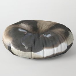 Siamese Soulful Expression Floor Pillow