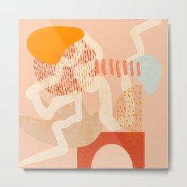 mid century modern abstract design II Metal Print