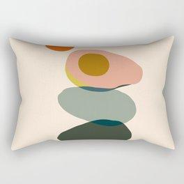 Abstract Avocado Rectangular Pillow