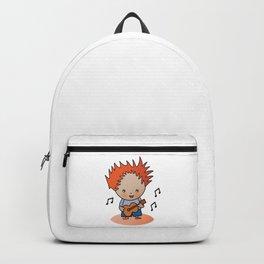 Cute Chibi Boy Musician with Guitar  Backpack
