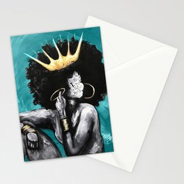 Naturally Queen VI  TEAL Stationery Cards