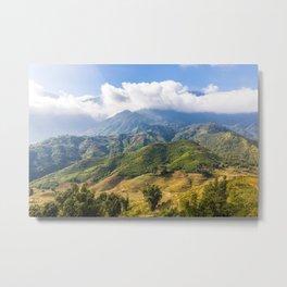 Mountains Nature Landscape Metal Print