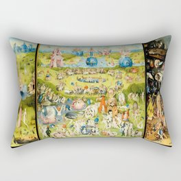 The Garden of Earthly Delights by Bosch Rectangular Pillow