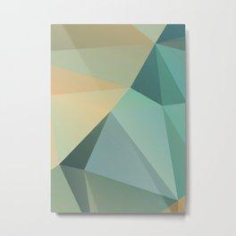Nil – modern polygram illustration, wall art print Metal Print