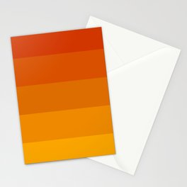 Orange stripes Stationery Cards