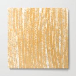 mustard lines pattern Metal Print