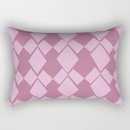 Geometric Diamonds Design (Dusty Rose) Rectangular Pillow
