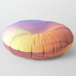 Abstract Sunset IV Floor Pillow