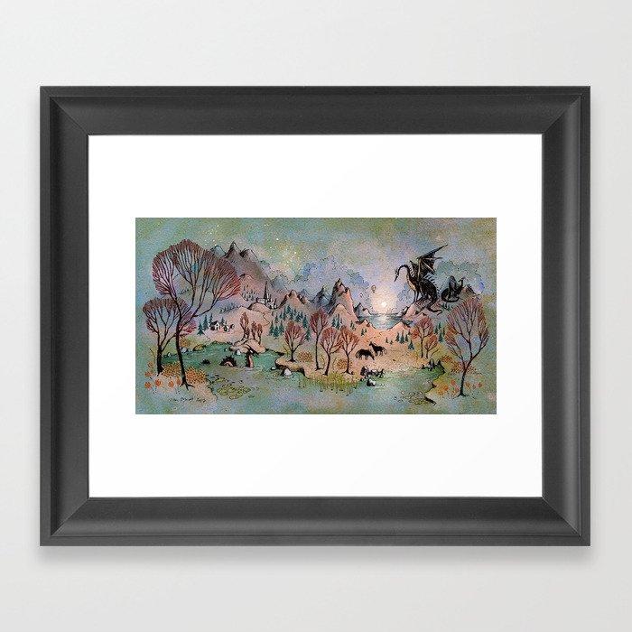 Dragon Hills Gerahmter Kunstdruck