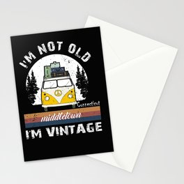 I'm Not Old I'm Vintage funny Connecticut Middletown Stationery Cards