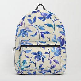 Ink Painted Floral Pattern Backpack