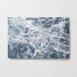 Pacific Ocean Waves Pattern Aerial Photography Metal Print