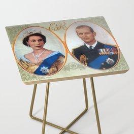 Queen Elizabeth 11 & Prince Philip in 1952 Side Table