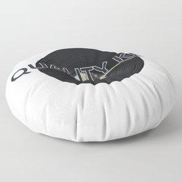 Quality Key: Vinyl Time Floor Pillow