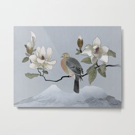 Mourning Dove And Magnolia Metal Print