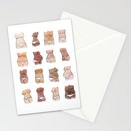 Hello, girls! // Boobs and butts Stationery Cards