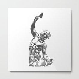 Self-Made Men statue Metal Print
