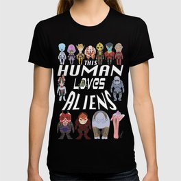Aliens LOVE T-shirt