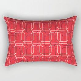 Retro Cubes Red  #midcenturymodern Rectangular Pillow