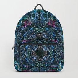 Blushing Blue Bromeliad Backpack