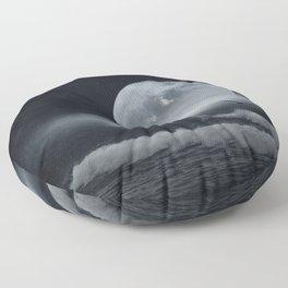 moon-lit ocean Floor Pillow
