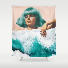Waterbed Shower Curtain