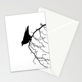 Perching Crow Stationery Cards