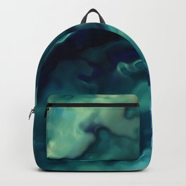 Abstract Watercolor, Prints Green and Navy Art Backpack
