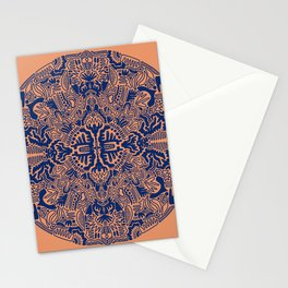 Blue ball of shapes Stationery Cards