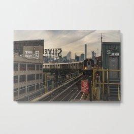 NYC Subway & Skyline Metal Print