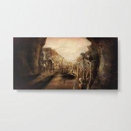 You See Bones Metal Print